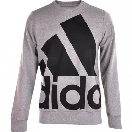 LOGO CREW GRY - Sweat Entrainement Homme Adidas