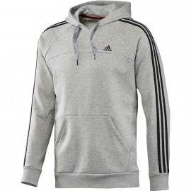 ESS 3S HOOD GRY - Sweat Entrainement Homme Adidas