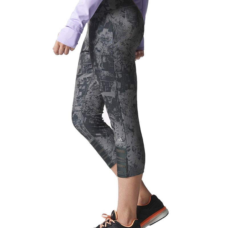 SN 34 G TGT W GRY Collant Running Femme Adidas Pantacourts