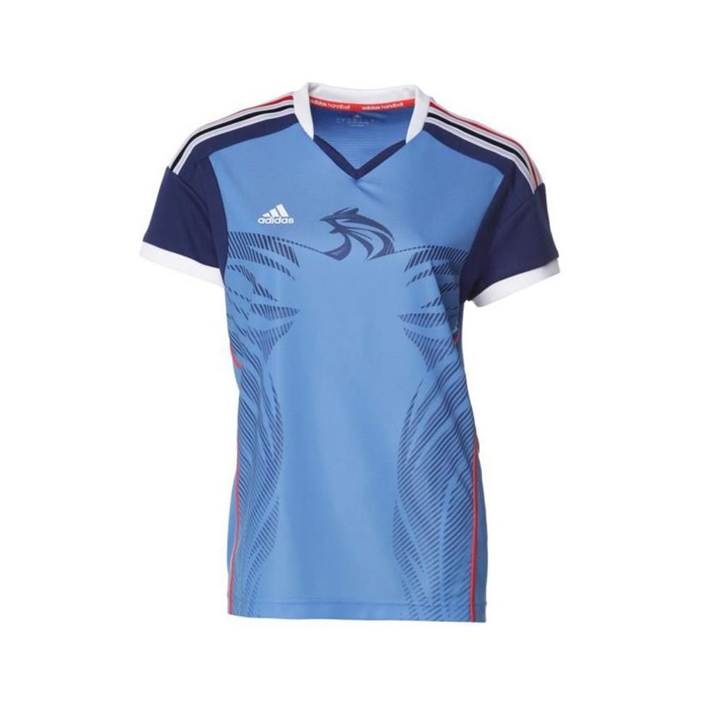 Détails sur HB FK JERSEY M BLE Maillot Handball France Homme Adidas Bleu