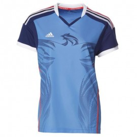 HB FK JERSEY M BLE - Maillot Handball France Homme Adidas