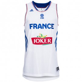 FFBB JSY M BLC - Maillot Basketball France Homme Adidas