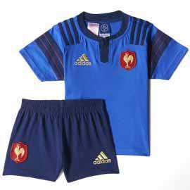 YB FFR H MINIKIT BLE - Minikit Rugby France Garçon Adidas