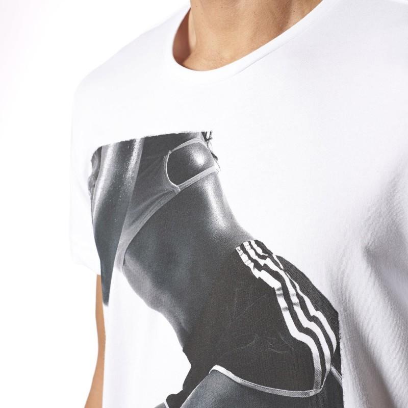 WORK OUT GIRL BLC - Tee-shirt Homme Adidas