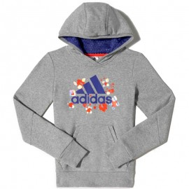 YG W D HOODIE GRY - Sweat à capuche Fille Adidas