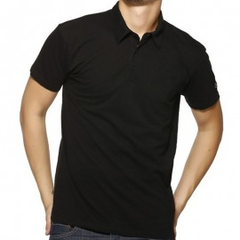 POLO LOANEL MEN MC SLUB NR - Polo Homme Biaggio Jeans
