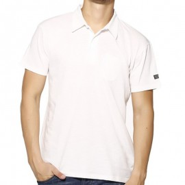 POLO LOANEL MEN MC SLUB BLA - Polo Homme Biaggio Jeans
