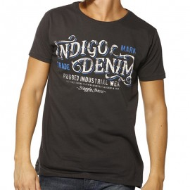 TEE FIDEL ML MEN ANT - Tee-shirt Homme Biaggio Jeans