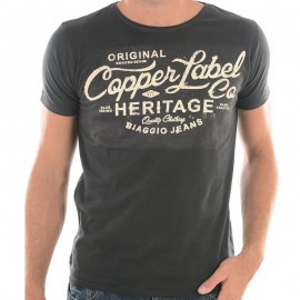 TEE FEREOL ML MEN ANT - Tee-shirt Homme Biaggio Jeans