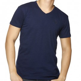 TEE LORIKEL MC SLUB NAV - Tee-shirt Homme Biaggio Jeans