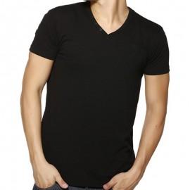 TEE LORIKEL MC SLUB NR - Tee-shirt Homme Biaggio Jeans