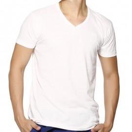 TEE LORIKEL MC SLUB BLA - Tee-shirt Homme Biaggio Jeans