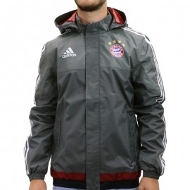 EN ATTENTE PHOTOS FCB RAIN JKT M GRI - Veste imperméable Football FC Bayern Munich Homme Adidas