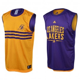 LAKERS SMR RN REV S/L VIJAU - Maillot LA Lakers Basketball Homme Adidas