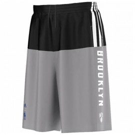 SMR RN SHORT GRY - Short Brooklyn Nets Basketball Homme Adidas