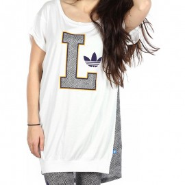 LAKERS TEE DRESS W BLC - Tunique LA Lakers Basketball Femme Adidas