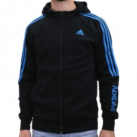 SILENO FZ HOODY NR - Sweat à Capuche Entrainement Homme Adidas