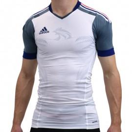HB FK TECHFIT M BLC - Maillot Handball France Homme Adidas