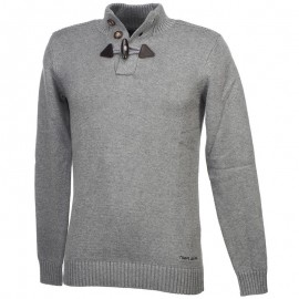 PARBOUR GRI - Pull Homme Teddy Smith