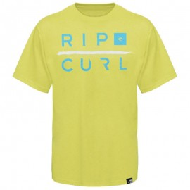 OXIDISER CUSTOM TEE JAU - Tee shirt Garçon Rip Curl