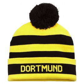 BVB BUBBLE HAT YEL - Bonnet Borussia Dortmund Football Homme Puma