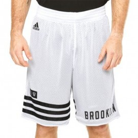SMR RN REV SHORT M BLC - Short Basketball Brooklyn Nets Homme Adidas