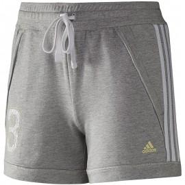 SP 3S COL SHORT W GRI - Short Entrainement Femme Adidas