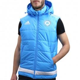 OM PADDED VEST M TUR - Doudoune Football Olympique de Marseille Homme Adidas