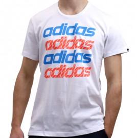 QQR REPEAT LINEAR M BLC - Tee shirt Homme Adidas