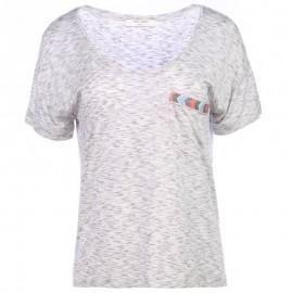 TEE TOPA MC GRI - Tee shirt Femme Teddy Smith