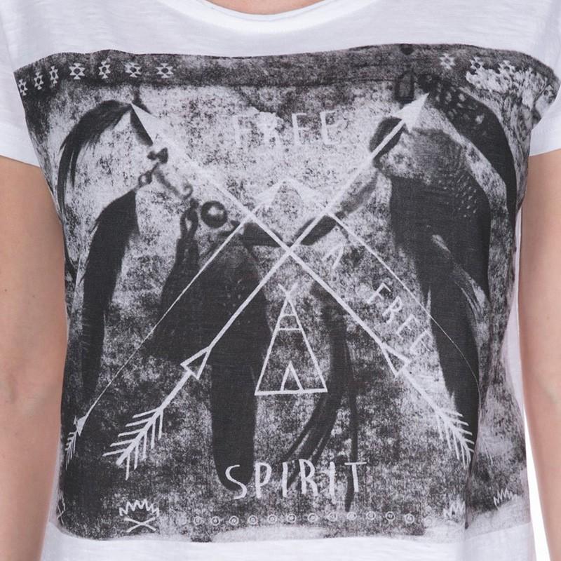 Deeluxe Shirt EcrTee T Feather Girl shirts Femme P0wknO