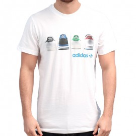 SHOE TAB TEE M BLC - Tee shirt Homme Adidas