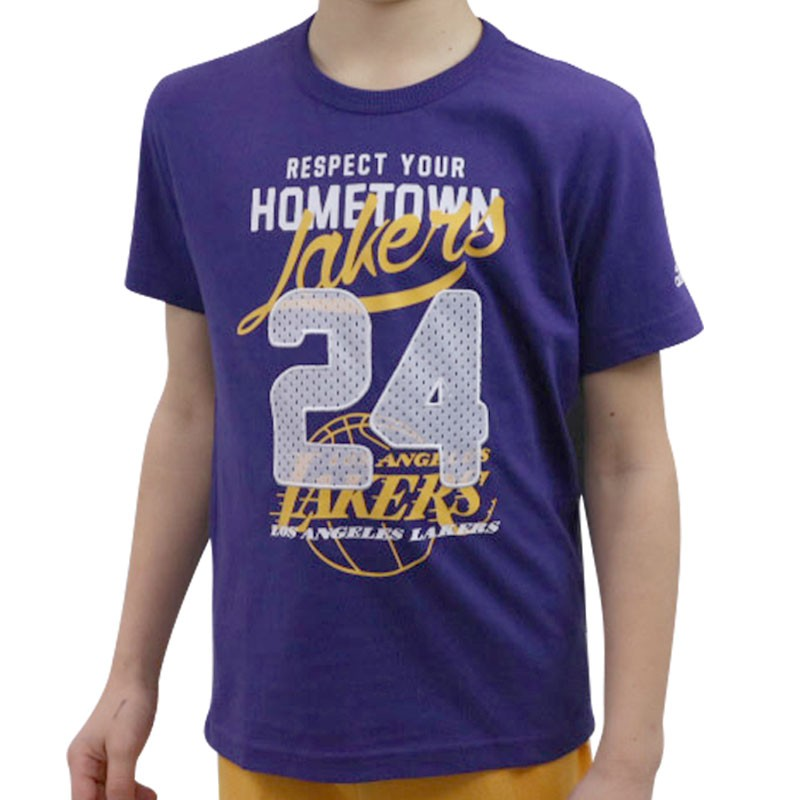 tee shirt la lakers basketball gar on adidas t shirts. Black Bedroom Furniture Sets. Home Design Ideas