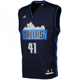 Maillot Réplica Dallas Mavericks Dirk Nowitzki Basketball Homme Adidas