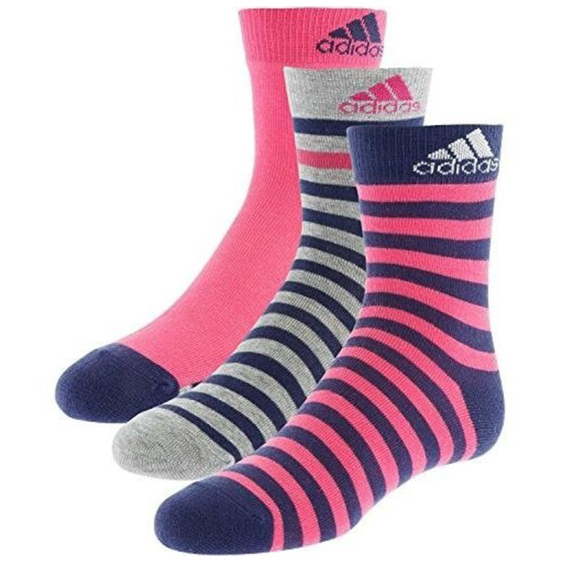 chaussettes stripy ankle 3p fille femme adidas chaussettes. Black Bedroom Furniture Sets. Home Design Ideas