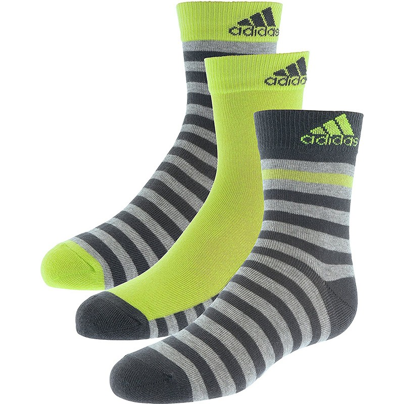 chaussettes stripy ankle 3p gar on adidas chaussettes. Black Bedroom Furniture Sets. Home Design Ideas