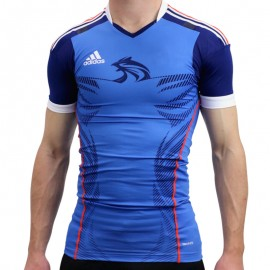 HB FK TECHFIT M BLE - Maillot Handball France Homme Adidas