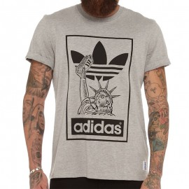 Tee Shirt NYC Superstar Homme Adidas