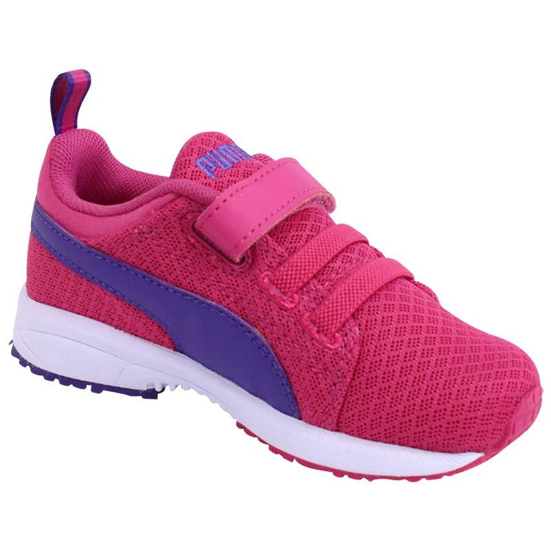 Chaussures-Carson-Runner-Mesh-V-Bebe-Fille-Puma
