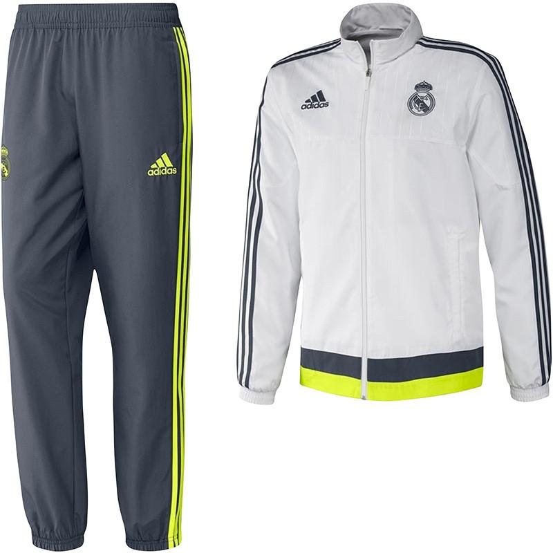 Adidas Pantalon de survêtement Real Madrid blanc adidas