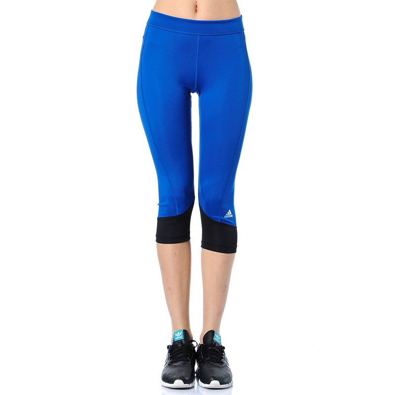 new style 77526 b7ddf Collant 3 4 Bleu Techfit Running Femme Adidas