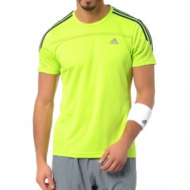 Tee Shirt Vert Response Running Homme Adidas