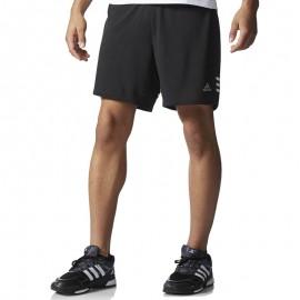 Short Noir Response Dual Techfit Running Homme Adidas