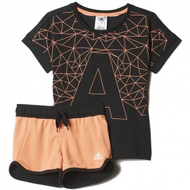 Ensemble Noir Rock It Coton Summer Fille Entrainement Adidas