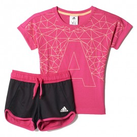 Ensemble Rose Rock It Coton Summer Fille Entrainement Adidas