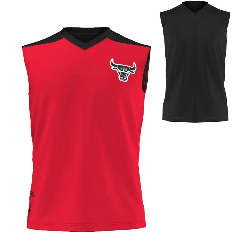 Maillot Reversible Rouge Chicago Bulls Basketball Homme Adidas