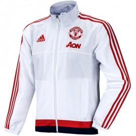 Veste Blanc Manchester United Football Homme Adidas