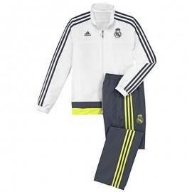 Survêtement Blanc Real Madrid Football Garçon Adidas