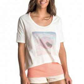 Tee-shirt 2 en 1 écru Femme Roxy