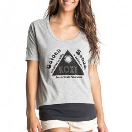 Tee-shirt 2 en 1 Parson gris Femme Roxy